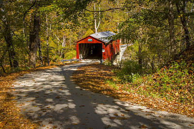 Photograph - Rollingstone Covered Bridge  by Jack R Perry