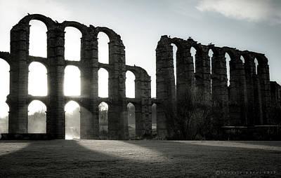 Photograph - Roman Aqueduct Merida Spain by Henri Irizarri