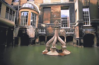 Roman Bath In Bath England Art Print by Carl Purcell