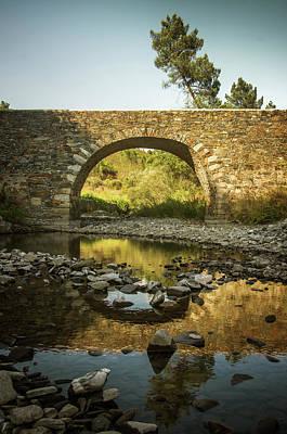 Drought Wall Art - Photograph - Roman Bridge by Carlos Caetano