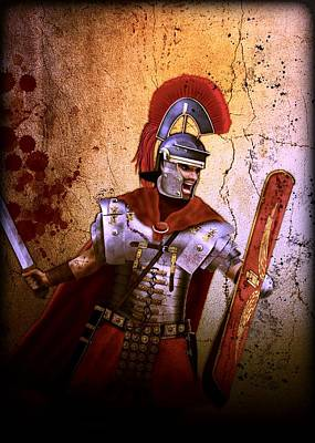 Digital Art - Roman Centurion  by John Wills