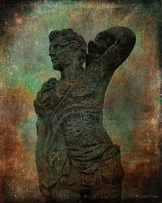 Photograph - Roman Hunter Statue Torso Left by Lesa Fine