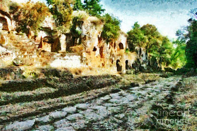 Painting - Roman Road Amerina by Giuseppe Cocco