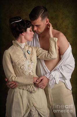 Photograph - Romantic Victorian Couple by Lee Avison