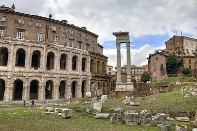 Archeology Photograph - Rome - Theatre Of Marcellus by Joana Kruse