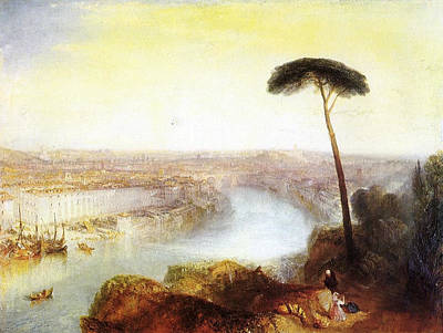 Rome From Mount Aventine Art Print by JMW Turner