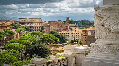 Photograph - Rome Italy Cityscape by Alex Saunders