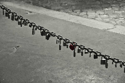 Photograph - Rome Love Locks by JAMART Photography