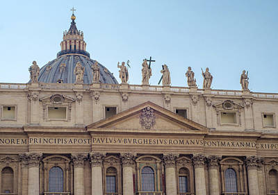 Rome - St Peter Basilica  Art Print by Andrea Mazzocchetti