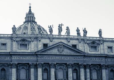 Rome Photograph - Rome - St Peter Basilica Bw  by Andrea Mazzocchetti