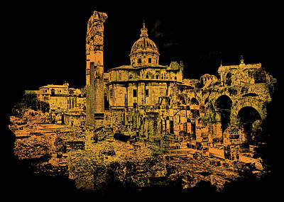Painting - Rome, The Imperial Forums by Andrea Mazzocchetti