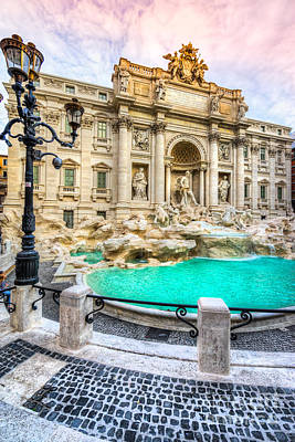 Photograph - Rome - Trevi Fountain - Italy by Luciano Mortula