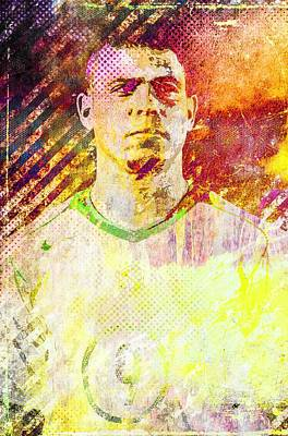 Mixed Media - Ronaldo by Svelby Art
