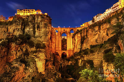 Photograph - Ronda By Night by Benny Marty
