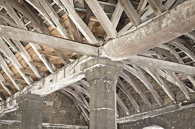 Roof Timber Print by Tom Gowanlock