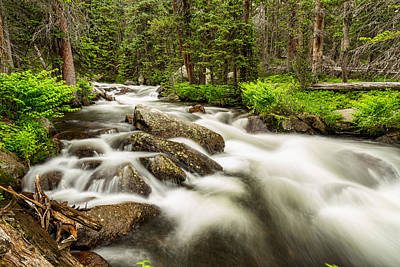 Flowing Photograph - Roosevelt National Forest Stream by James BO  Insogna