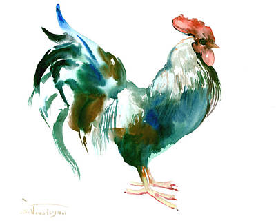 Rooster Drawing - Rooster by Suren Nersisyan
