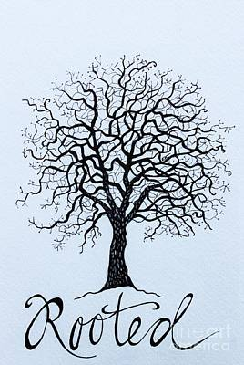 Painting - Rooted by Elizabeth Robinette Tyndall