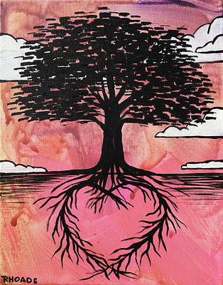 Art Print featuring the painting Rooted In Love by Nathan Rhoads