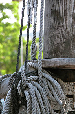 Photograph - Rope And Mast by Frank Mari