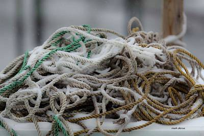 Photograph - Ropes by Mark Alesse