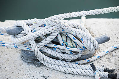 Dock Photograph - Ropes On Cleat by Elena Elisseeva