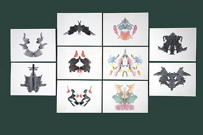Psychology Photograph - Rorschach Inkblot Test by Sheila Terry