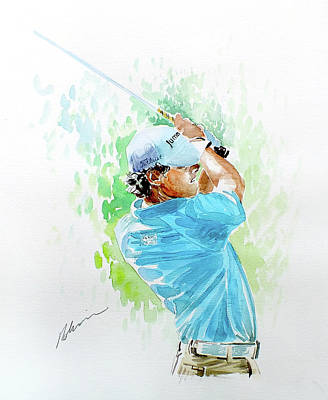 Painting - Rory Mcilroy 2011 by Mark Robinson