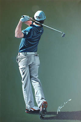 Painting - Rory Mcilroy 2012 by Mark Robinson