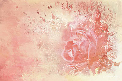Mixed Media - Rose Colored Splashes by Theresa Campbell