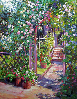 Painting - Rose Cottage Gate by David Lloyd Glover