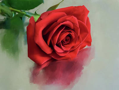 Painting - Rose Reflection by Garvin Hunter