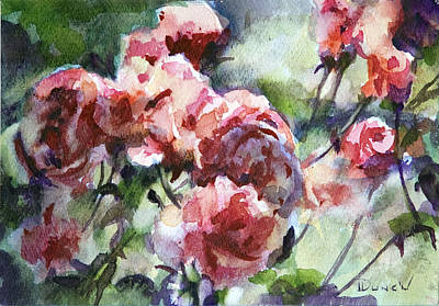 Rose Sketch Art Print by Bob Duncan