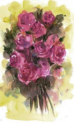 Painting - Roses by Asha Sudhaker Shenoy