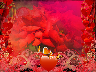 Grettings Digital Art - Roses For You by Vesna Martinjak