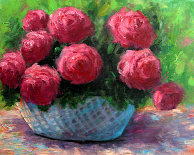 Painting - Roses In Sunshine by Lucy Williams