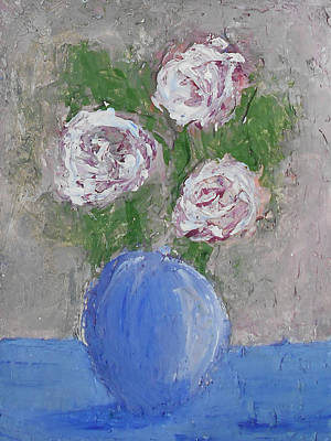 Mixed Media - Roses In Vase by Angela Stout