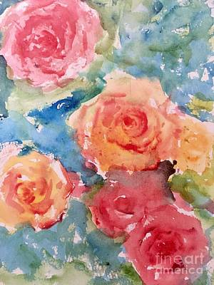 Painting - Roses by Trilby Cole