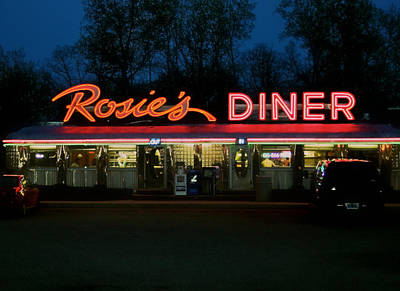 Rosie's Diner Print by Odd Jeppesen