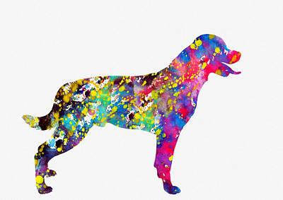 Rottweiler-colorful Art Print