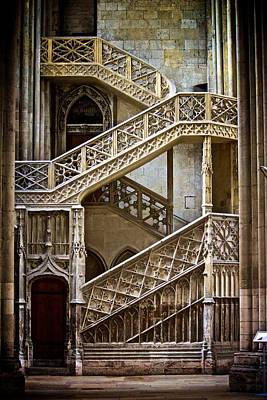 Photograph - Rouen Cathedral Stairway by Eric Tressler