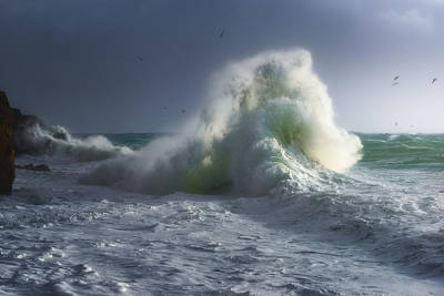 Photograph - Rough Sea 5 by Giovanni Allievi