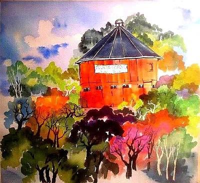 Round Barn ,santa Rosa Art Print