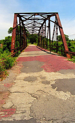 Route 66 - One Lane Bridge Art Print