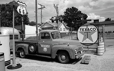 Mural Photograph - Route 66 - Shea's Gas Station by Frank Romeo
