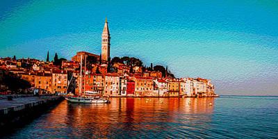Painting - Rovinj, Croatia by Lev Kaytsner