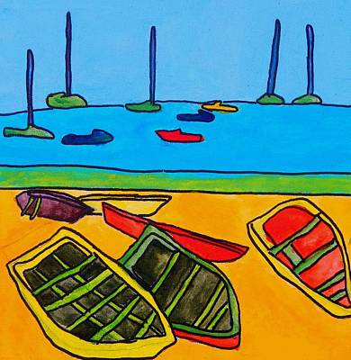 Painting - Rowboats by Brandon Drucker