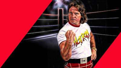 Mixed Media - Rowdy Roddy Piper Wrestling Collection by Marvin Blaine