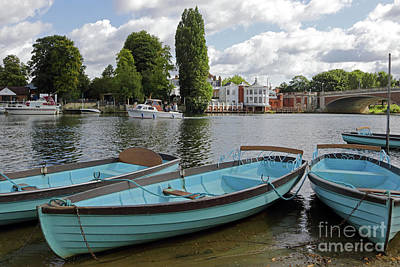 Photograph - Rowing Boats At Hampton Court by Julia Gavin