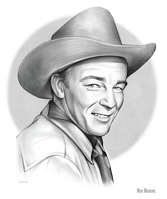 Drawing - Roy Rogers by Greg Joens